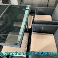 bàn ghế mây nhựa giá rẻ