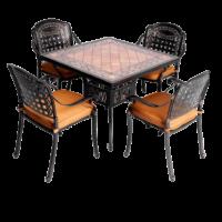 Bàn ghế nhôm đúc 02