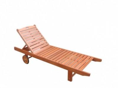 Giường tắm nắng hồ bơi bằng gỗ