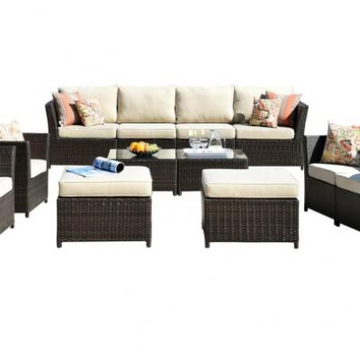 Bộ bàn ghế sofa nhựa mây【dành cho 8 người】