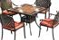 Bộ bàn ghế nhôm đúc ngoài trời mặt đá gốm