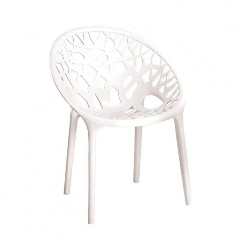 Ghế nhựa màu trắng 01