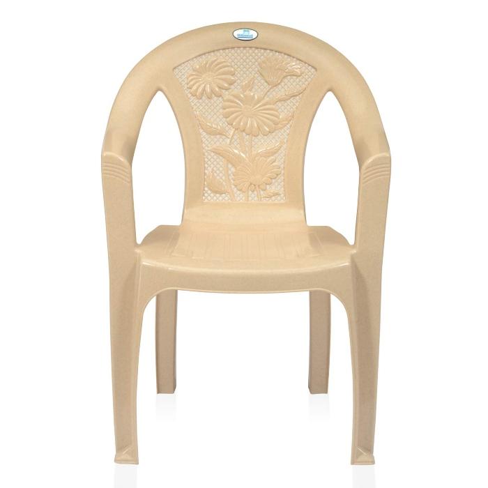 Ghế nhựa màu be 01